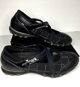 skechers womens athletic walking shoes black multi plaid