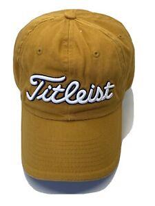 Titleist-Golf-Gold-Rust-Adjustable-Adult-Baseball-Cap-Hat-Strap-back-New-Era