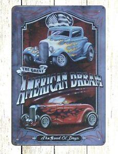 American Dream car tin metal sign cool wall art bedroom | eBay