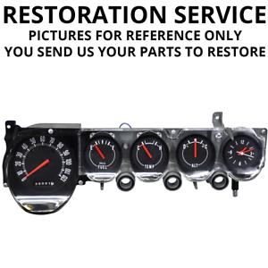 Details about RESTORATION SERVICE | 1970-74 Mopar E-Body | Non-Rallye Dash