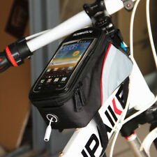 "Cycling Bags Bicycle Frame Pannier Bike Tube Bag for Cell Phone 5.5"" Waterproof"
