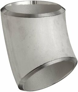 "1-1/2"" NB SCH10S 45° LONG RADIUS ELBOW BUTT WELD WELDED 316L STAINLESS STEEL"
