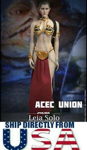 1//6 Princesse Leia Organa Star Wars Slave Head Sculpt Outfit Set /> EN STOCK /<