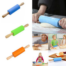 Pastry Cake Baking Toll Stick Wooden Dough Roller Rolling Pin Kitchen Tool LI