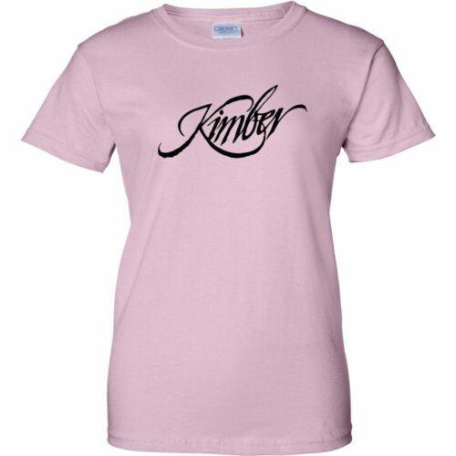 Kimber Black Logo Womens T Shirt Ladies 2nd Amendment Pro Gun Rifle Pistol New