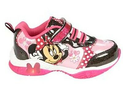 *New* Disney Minnie Mouse Baby//Toddler Size 7 Pink Light Up Shoes//Sneakers