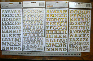 Buckaroo-GOLD-amp-SILVER-White-Spot-FOIL-136-Alphabet-Thickers-22-x-32mm-Choice-L3