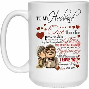 To My Husband I Love You Forever & Always Mug Funny Coffee Cup Gift For Men W...