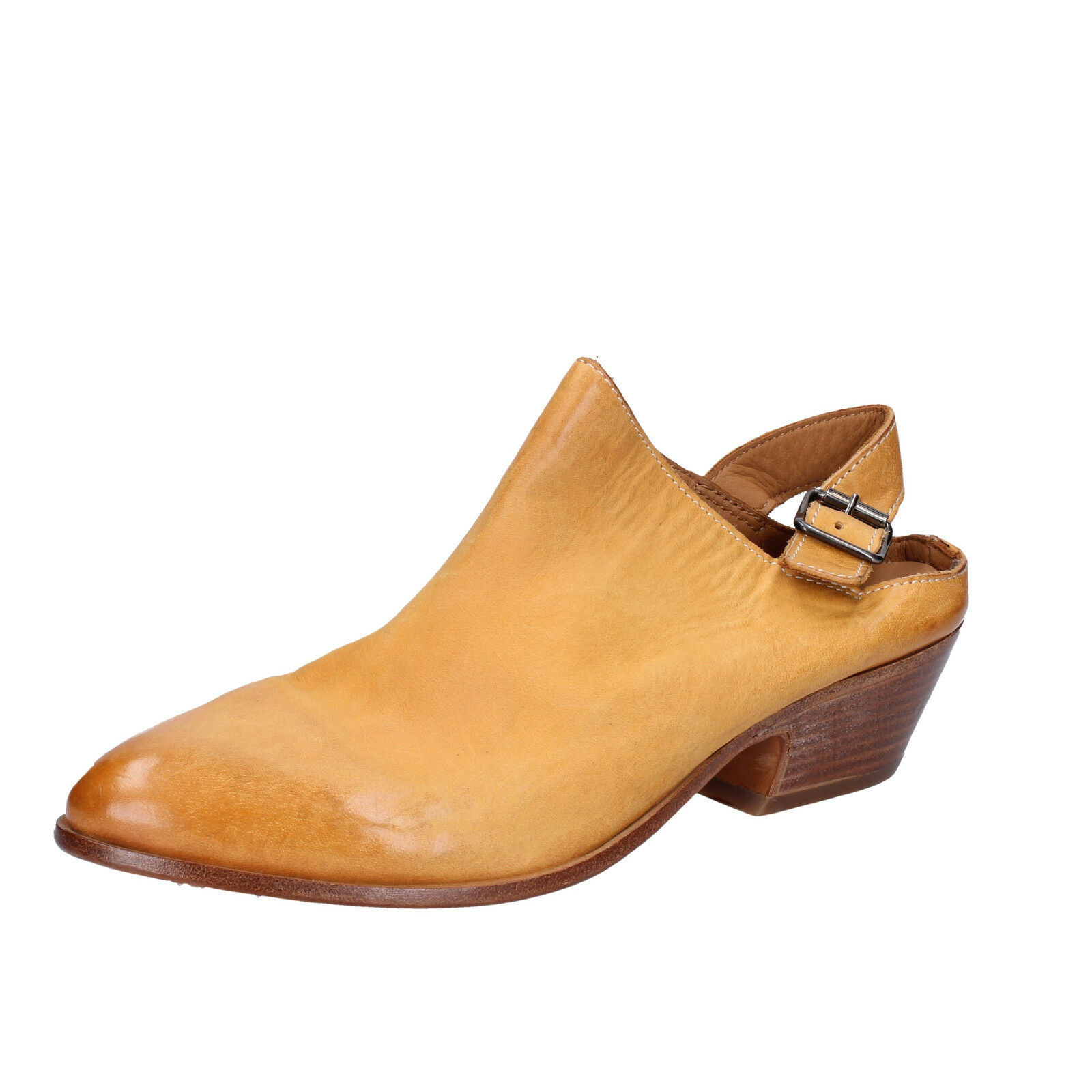 Women's shoes MOMA 7 (EU 37) sandals yellow leather BX975-37