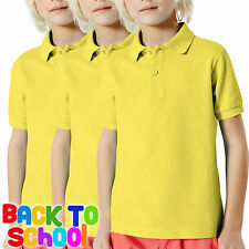 a333b130 item 3 3 Pack Childrens Fruit of the Loom 65/35 POLO Shirt Boys Girls School  Uniform PE -3 Pack Childrens Fruit of the Loom 65/35 POLO Shirt Boys Girls  ...