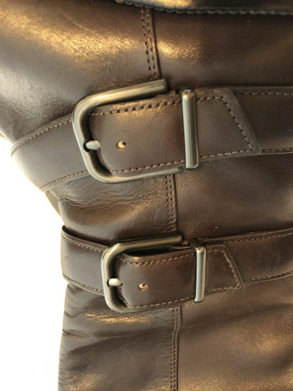 Via Spiga donna scarpe Dimensione 7.5M Marroneee Leather High High High stivali 931ab8