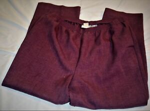 5184a18adae36 Women s Pants Alfred Dunner Size 18 Purple Elastic Waist Polyester ...