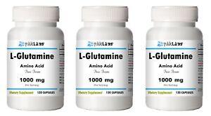 L-Glutamine-Amino-Acid-1000mg-High-Potency-1-3-BIG-Bottles-120-240-360-Capsules