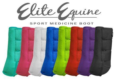 Elite Equine Showman Sport Medizin Splint Boots Full Pferd Größe (2)
