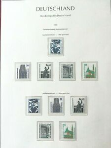 WEST GERMANY(BRD) 1989: Sightseeings 9 stamps MNH** VF, 1 album page
