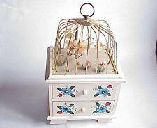 VERY Vintage Bird Cage Music Box Jewelry Box. Apco Japan.