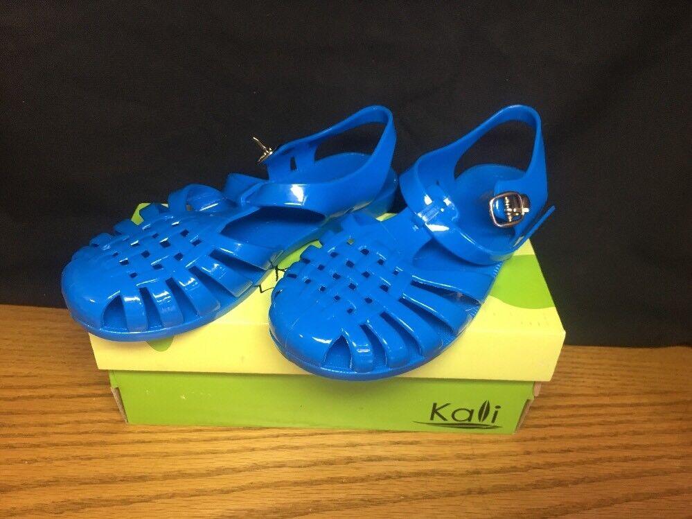 (CP) Kali Footwear Women's Angel-JR Turquoise Strap Jelly Flat Sandals Turquoise Angel-JR 87fdfa