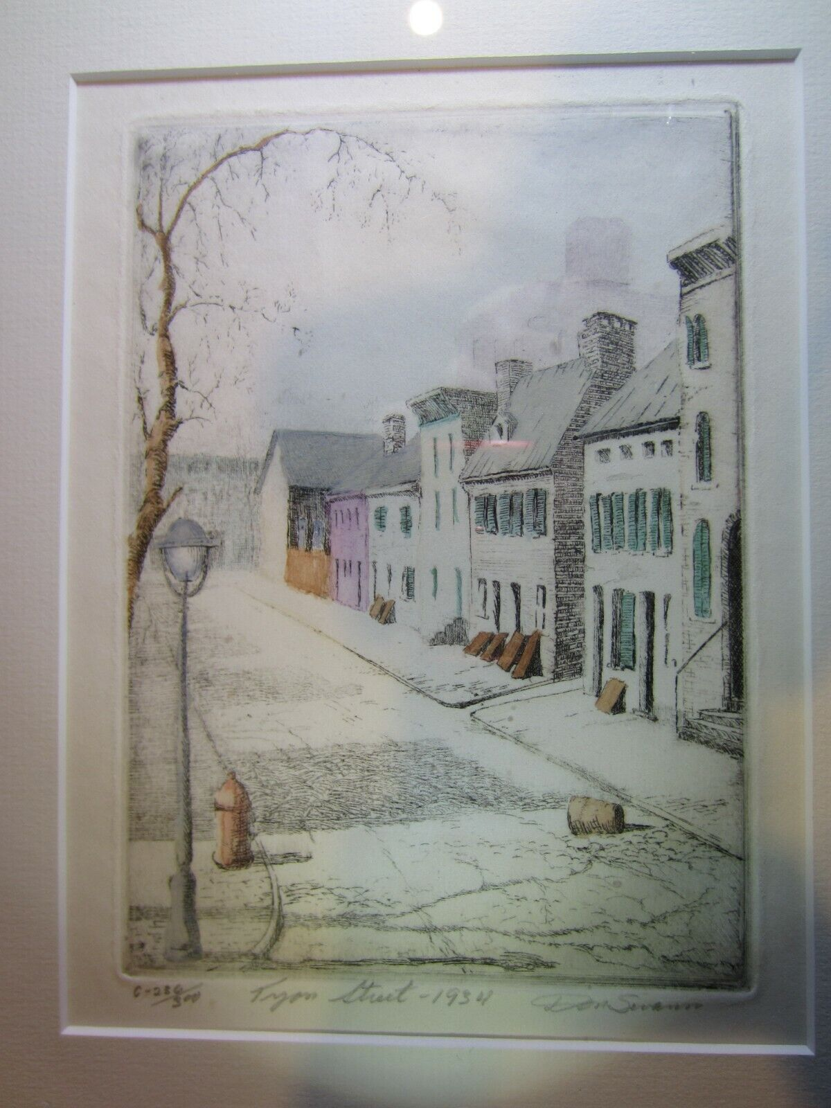 """Original Etching by Don Swann Limited Edition Signed & Numbered """"Tyson Street"""" on eBay thumbnail"""
