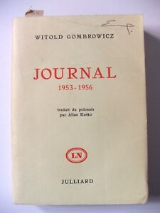 WITOLD-GOMBROWICZ-JOURNAL-1953-1956-JULLIARD-1964-EO-N-TIRAGE-SPECIAL