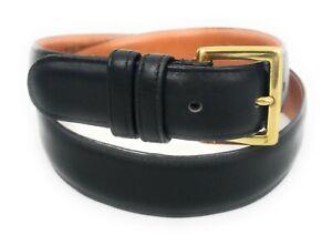 COACH-Men-039-s-Black-Belt-Size-34-85-Genuine-Leather-Brass-Buckle-7600-Made-USA