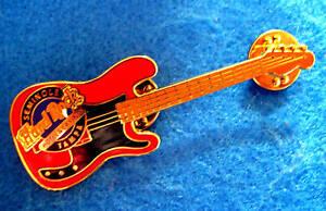 TAMPA HOTEL *RED FENDER BASS* GUITAR Hard Rock Cafe PIN LE TAC BACK
