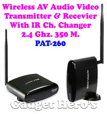 2.4 GHz. 350M. Wireless AV. Audio Video Transmitter Receiver For Media Player