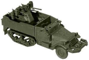 HO-Scale-ROCO-Minitank-039-M16-Halftrack-w-Anti-Aircraft-Gun-039-KIT-Item-5048