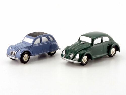 """Schuco Piccolo Set Citroen 2 CV/ VW Käfer """"Haus der Geschichte"""" # 50151000"""