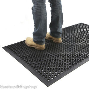 large outdoor rubber entrance mats anti slip drainage door mat flooring ebay. Black Bedroom Furniture Sets. Home Design Ideas