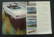 1966 Plymouth  Belvedere Indy Pace   NHRA  MOPAR 8 pg car ad 1967