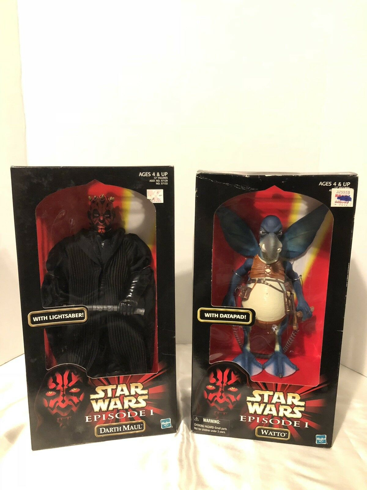 Star Wars 12 inch figures Episode 1 Darth Darth Darth Maul & Watto eacba5