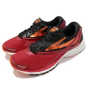 48d9e675dbf Brooks Launch 4 Red Black Orange Men Running Training Shoes Sneakers ...