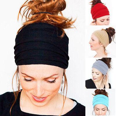 Femmes Large Sports Yoga Bandeau Extensible Serre-tête élastique cheveux bande Turban Géorgie