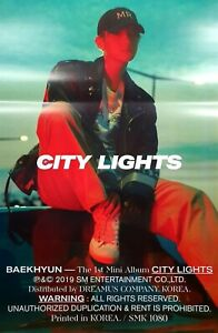 BAEKHYUN-CITY-LIGHTS-OFFICIAL-POSTER-SELECT-SHIPPING-OPTS-FOLDED-UNFOLDED