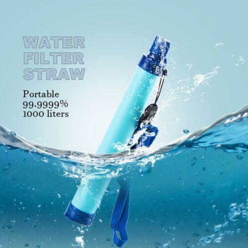 17.8cm Tragbar Wasserfilter Strohhalm Filter Reiniger Außen Notfall Überleben