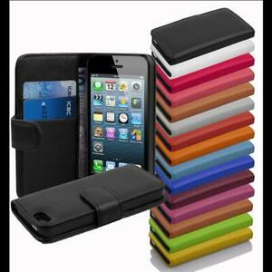 Case-for-Apple-Wallet-Cover-2-Card-Pockets-Flip-Etui-Book-Style