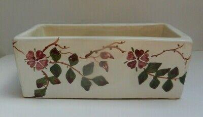 Brannam Barnstaple Pottery Rectangular Trough/planter Flowers 22 Cm Pottery Pottery, Porcelain & Glass