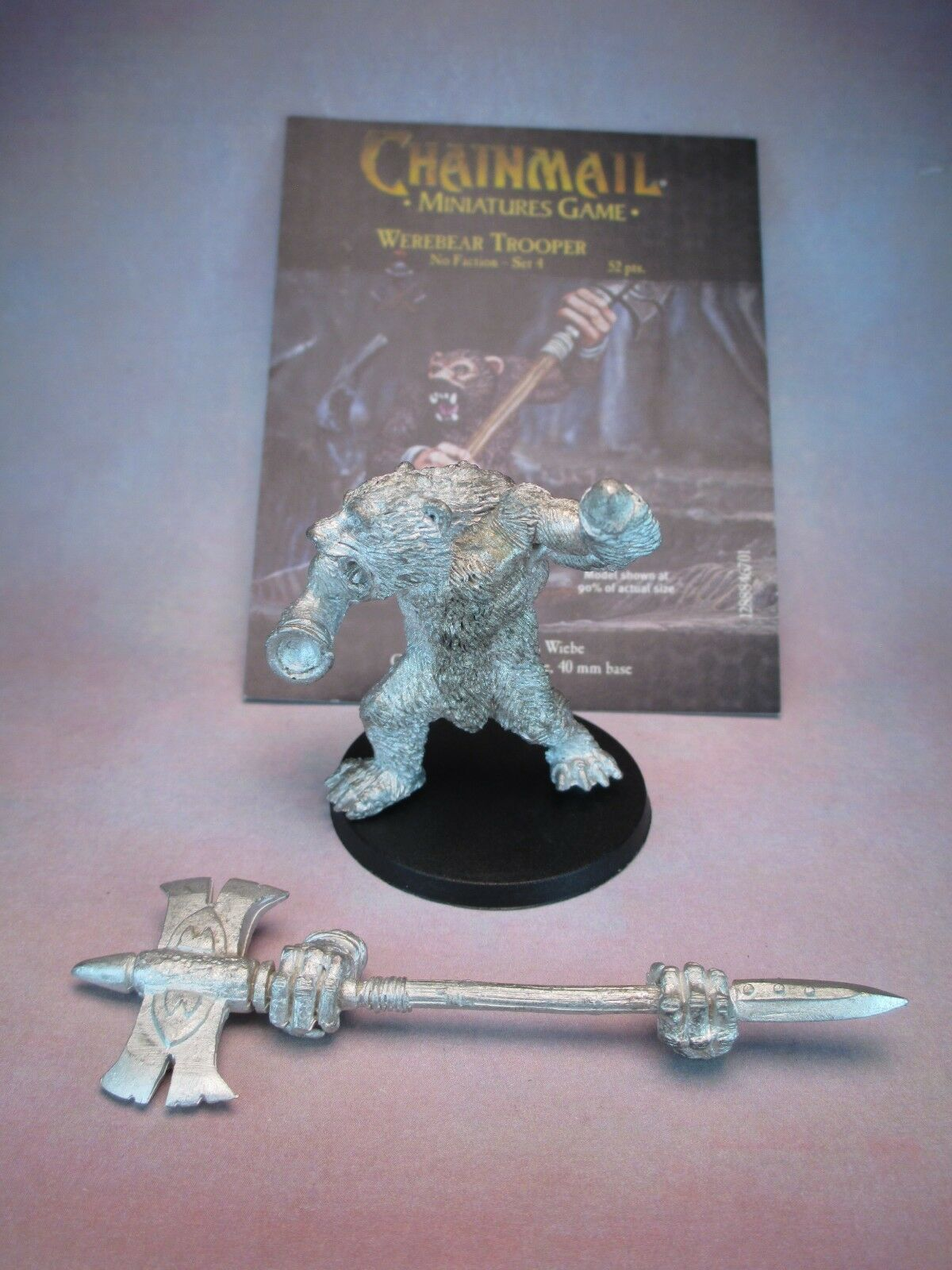 Chainmail WEREBEAR WotC METAL miniature D&D Pathfinder were bear CARD included