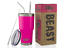 2 Straws 30 oz Tumbler Stainless Steel Insulated Coffee Cup with Lid