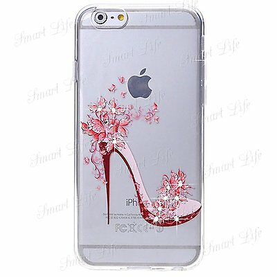Ultra Fino Brillante Transparente Diamante Sintético Funda blanda para Iphone