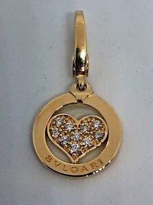 18K Yellow Gold Heart Charm