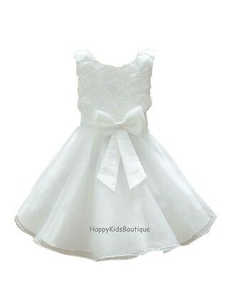 Girls Flower Bridesmaid Dress Party Christening Wedding Communion Prom 2-11 yrs