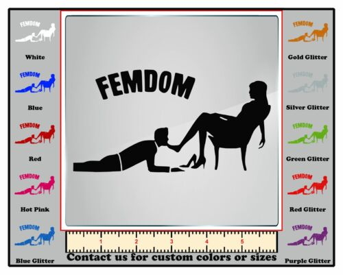 FemDom Women Female Feminist Power Vinyl Decal Car Wall DecalDoggy