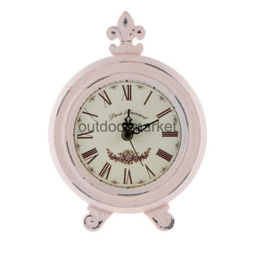 24.5cm High Medieval Style Wooden Shelf Decorative Clock Home Shop Collectibles