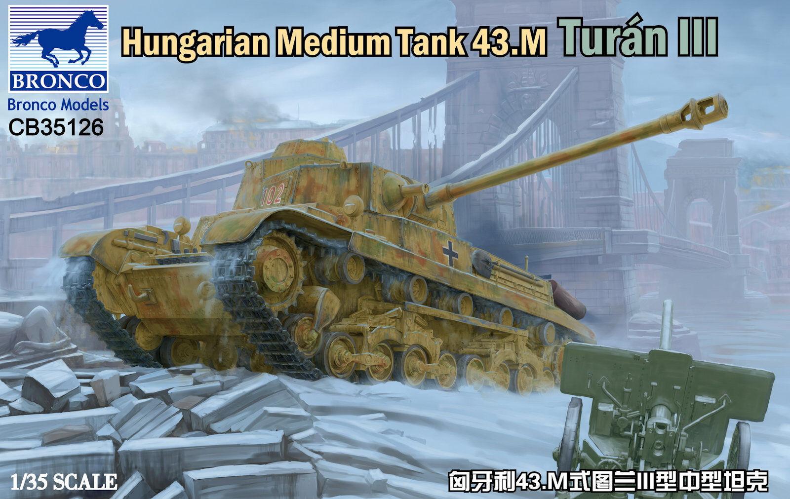 Bronco 1 35 Turan III 43.M Hungarian Medium Tank CB35126