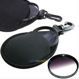 Portable Filter Lens Pouch Camera UV CPL Elastic Bags Storage Case Holder Fabric