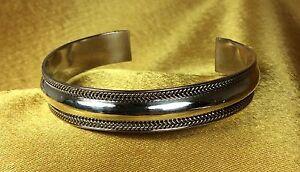 Vintage-925-Sterling-Silver-Cuff-Bracelet-Fine-Jewelry