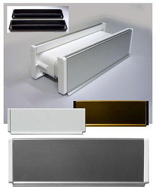 Heimwerker Herrlich Aluminium-briefeinwurf-m.schacht-nr.2-305 X 78 Mm-briefklappe-briefschlitz