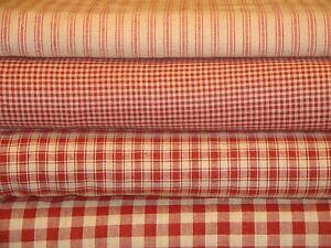 Red Homespun Fabric | Primitive Fabric | Rag Quilt Fabric ... : primitive quilt fabric - Adamdwight.com