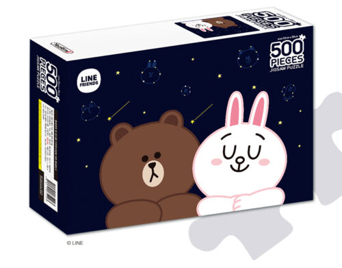 LINE Friends Jigsaw Puzzle Night Sky 500 pcs Character BROWN CONY Bromide Gift